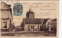 Les Rosiers-sur-Loire.. Carte Photo.. Eglise Notre-Dame.. Quartier Du Chemin De La Croix.. Café.. En 1903 - France