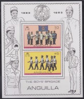Anguilla 1983 Bloc Neuf N°51 De 2 Timbres Centenaire Boys Brigade - Fanfare Et Marche Avec Tambour - Anguilla (1968-...)