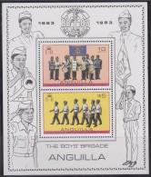 = Anguilla 1983 Bloc Neuf N°51 De 2 Timbres Centenaire Boys Brigade - Fanfare Et Marche Avec Tambour - Anguilla (1968-...)