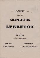 LIVRET CONTE PUBLICITAIRE OFFERT PAR LES CHAPELLERIES LEBRETON RENNES NANTES CHARTRES - Publicités