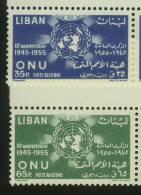 Lebanon,Liban,1956,United Nations , NO´ 550/551 S.G , MNH. - Lebanon