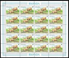 Rwanda 1283** 9F Elan du Cap -MNH- Sheet/ Feuille de 20 - Dessin de Buzin