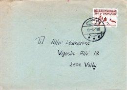 GROENLAND. N°155 De 1986 Sur Enveloppe Ayant Circulé. La Vie Quotidienne à Thulé. - Grönland