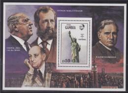 = Gambie 1986 Bloc Neuf De 1 Timbre N°24 Centenaire De La Statue De La Liberté à New York - Gambie (1965-...)