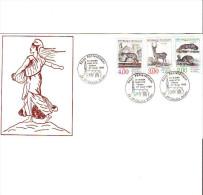 Pli Expo Le Monde Rural Et Le Timbre. Série Complète Buffon 1989. - Marcophilie (Lettres)