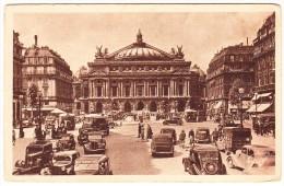 Paris: PEUGEOT 301D & 402, CITROËN TRACTION AVANT - VOITURES ANCIENNE - La Place Et Théatre De L'Opera - France - Toerisme
