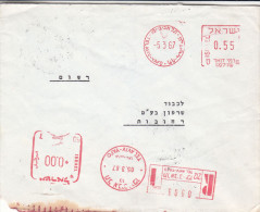 Israël - Lettre Recommandée De 1967  - Oblitération Tel Aviv Yafo - EMA - Empreintes Machines - Israël