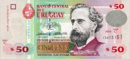 Uruguay 50 Pesos 2003 Pick 84 UNC - Uruguay