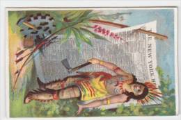 Chromo Fin XIXè - Presse Amerique - Journal The New York Herald - Indien - Other
