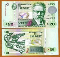 Uruguay 20 Pesos 2011 Pick 86 UNC - Uruguay
