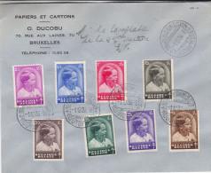 Belgique - Lettre De 1936 ° - Oblitération Bruxelles - FDC - Familles Royales - Prince Baudouin - Covers & Documents