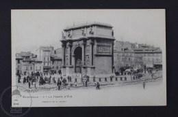 Old France Postcard - Marseille - La Porte D´Aix - E. Lacour - Marsella