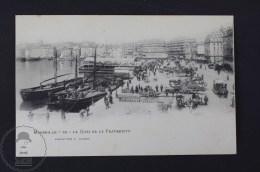 Old France Postcard - Marseille - Le Quai De La Fraternité - E. Lacour - Marsella