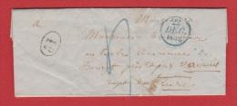 Lettre //  De Paris  //  Pour  Verneuil  //  22 Décembre 1832  // - Marcophilie (Lettres)