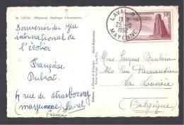 N° 925 - 30 Fr Bir Hakeim Seul Sur Carte Pour La Belgique - Marcophilie (Lettres)