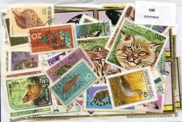 100 Timbres Thème Animaux - Briefmarken