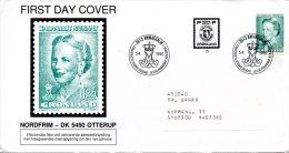 GROENLAND. N°189 Sur Enveloppe 1er Jour De 1990. Reine Margrethe II. - Koniklijke Families