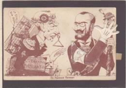 *Kitsch - Systeme Tirette - Franc Maçon - Caricature Politique - La Claque Au Grand Orient De France  - Voir Etat - Mechanical