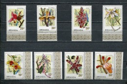 RWANDA * 1976 * ORCHIDS * Mi # 843 - 850 * MNH