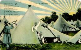 Belle Carte - La Vie Au Camp - 5h Du Matin ,le  Reveil               C1140 - Manoeuvres
