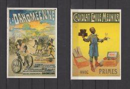 """Publicité - Affiches -  Série Complète """" Images De Noirs 4 Eme Série """"  De 15 Cartes - Repro Bibliothèque Forney - Advertising"""