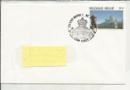 5300 Ciney  21-10-1989 - Solidarités Les Serres Royales De Laeken - Timbre N° 2340/43 - Postmark Collection