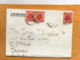 Hong Kong 1931 Cover Mailed To USA - Covers & Documents