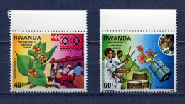 RWANDA * 1979 * PHILEXAFRIQUE II * Mi # 982 - 983 * MNH