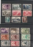 FRANCE  1948 N° Y&T :793/802- 814/822  Oblitérés Côte : 30,50 € - Gebraucht