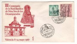 FDC Spagna Valencia Real Basilica Ntra.Sra. De Los Desamparados 1967 - FDC
