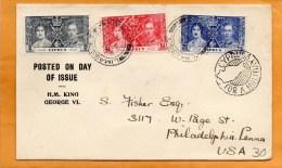 Cyprus 1937 FDC Mailed To USA - Cyprus (...-1960)