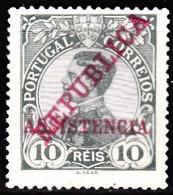 PORTUGAL (IMP. POSTAL E TELEG.) 1911.  D. Manuel Ll, C/ Sobrecargas «REPUBLICA» «ASSISTENCIA»  10 R. (*)MNG  Afinsa Nº 1 - Télégraphes