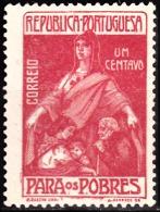 PORTUGAL (IMPOSTO POSTAL E TELEGRÁFICO) - 1915-1925.   Para Os Pobres.  Pap. Liso,  1 C.  * MH   Afinsa Nº 7 - Télégraphes