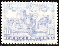 PORTUGAL (IMPOSTO POSTAL E TELEGRÁFICO) 1925.  Padrões Da Grande Guerra. 10 C. AZUL  * MH  Afinsa Nº 15 - Télégraphes
