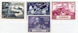 Gambia-1949 U P U Set. Very Fresh MH> - Gambia (...-1964)