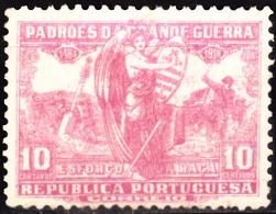 PORTUGAL (IMPOSTO POSTAL E TELEGRÁFICO) 1925.  Padrões Da Grande Guerra. 10 C. CARMIM.  (*) MNG  Afinsa Nº 17 - Télégraphes