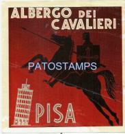 5452 ITALY PISA ALBERGO DEI CAVALIERI LUGGAGE NO POSTAL POSTCARD - Old Paper