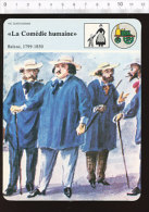 Fiche La Comédie Humaine / Illustration Balzac Et Ses Amis à Ville D'Avray Par Paul Chardin / 01-FICH-Histoire De France - Sports
