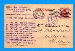 Entier Postal 1915 Bruxelles Occupation Allemande - Army: German