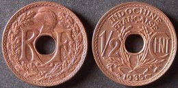 INDOCHINE  1/2 Cent 1935 Sortie De Rouleau SUP  INDO CHINA    PORT OFFERT - Laos