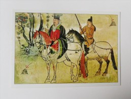 CARTE Peinture Chine Editions La Guilde - Cavalier Et Serviteur - Cartoline