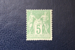 Timbre FRANCE SAGE N° 64 5c Vert Type I Neuf Petit Défaut Côte 900 Euros !!!! - 1876-1878 Sage (Type I)