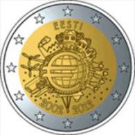 Estonie 2 Euro 2012 -Unc ( 10 Years Of Euro Banknotes And Coins ) - Estonie