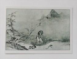 CARTE Peinture Japon  Editions La Guilde - Homme Pêchnt Un Poisson Chat Avec Une Calebasse - Cartes Postales