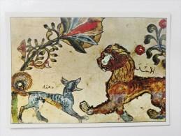 CARTE Peinture Chine Editions La Guilde - Le Lion Et Le Chacal Dinna - Postkaarten