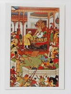 CARTE Peinture Inde Editions La Guilde - Akbar Recevant Abd-ur-Rahim à Agra - Postkaarten