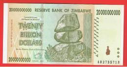 ZIMBABWE -  20.000.000.000 Dolar 2008 SC  P-86 - Zimbabwe