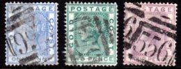 Gold Coast-1876/84. SG5, 6& 7. Fine Used. - Gold Coast (...-1957)