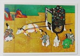 CARTE Peinture Japon  Editions La Guilde - Scène Du Roman De Genji - Cartes Postales