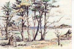 PORT-BLANC - Aquarelle Originale De Robert LEPINE - Other Municipalities